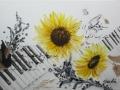 Sonnenblumen Klavier für Andreas