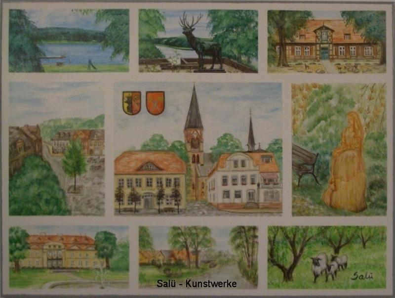 Postkarte Warin