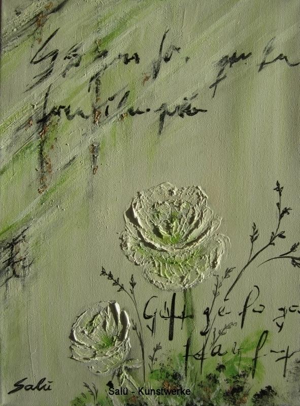 Hellgrüne Rosen