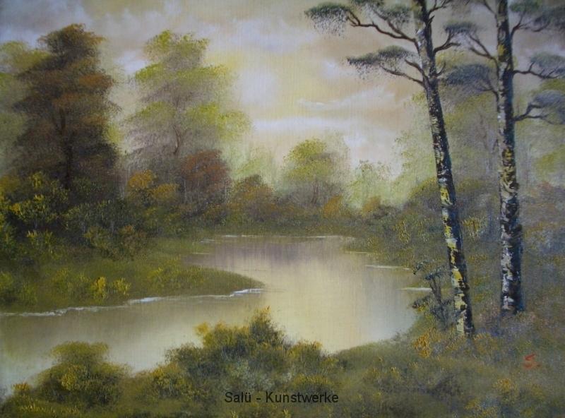 Zwei Birken im Sumpf