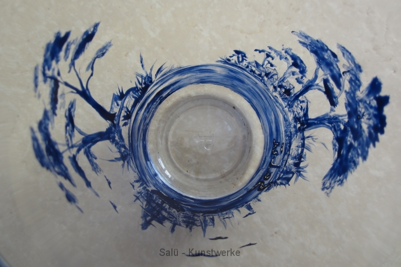 Glas blau 2 (Vogelperspektive)