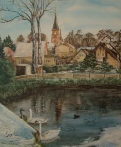 Schwäne im Stavenbach Warin